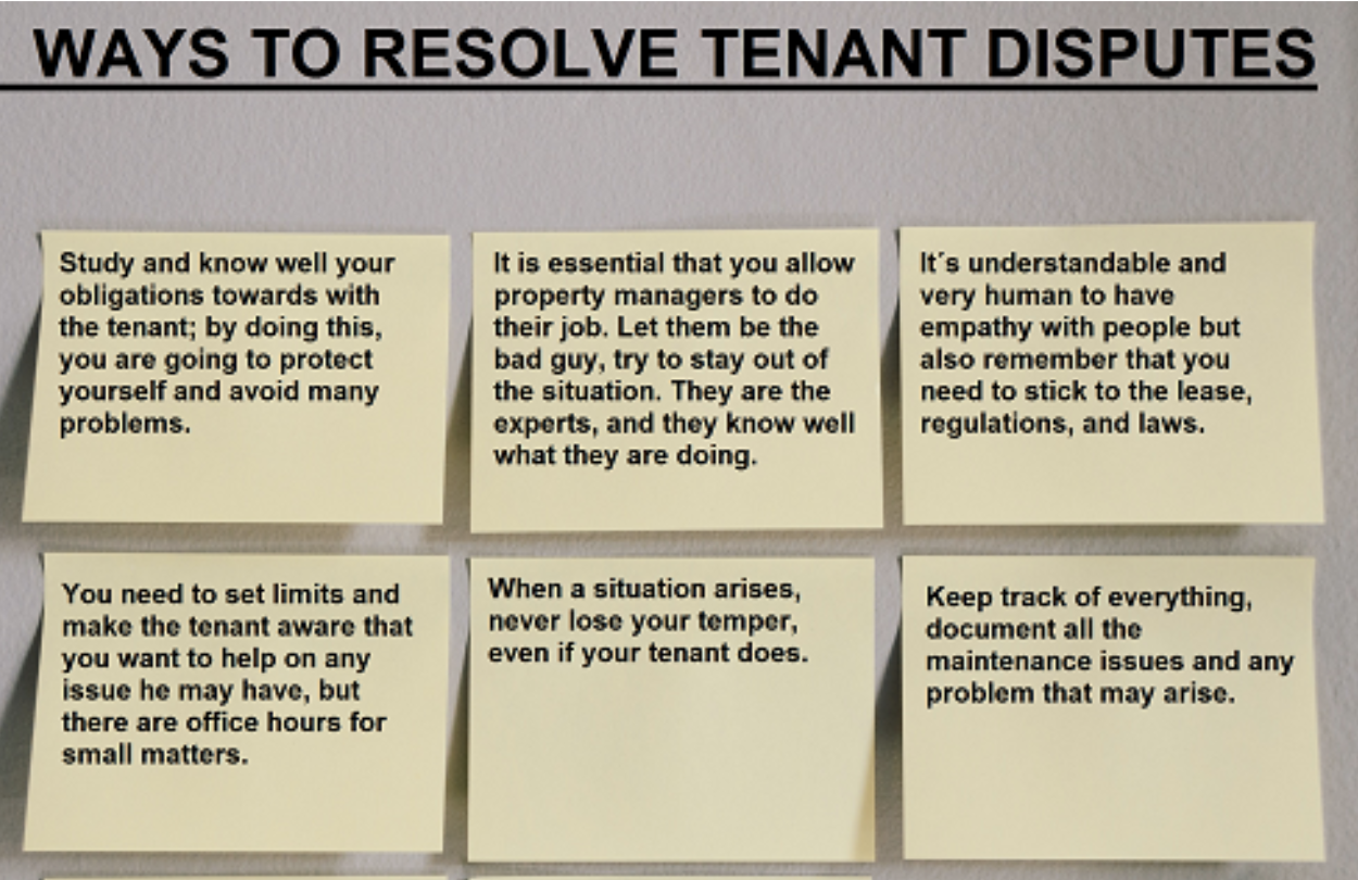 Ways to Resolve Tenant Disputes