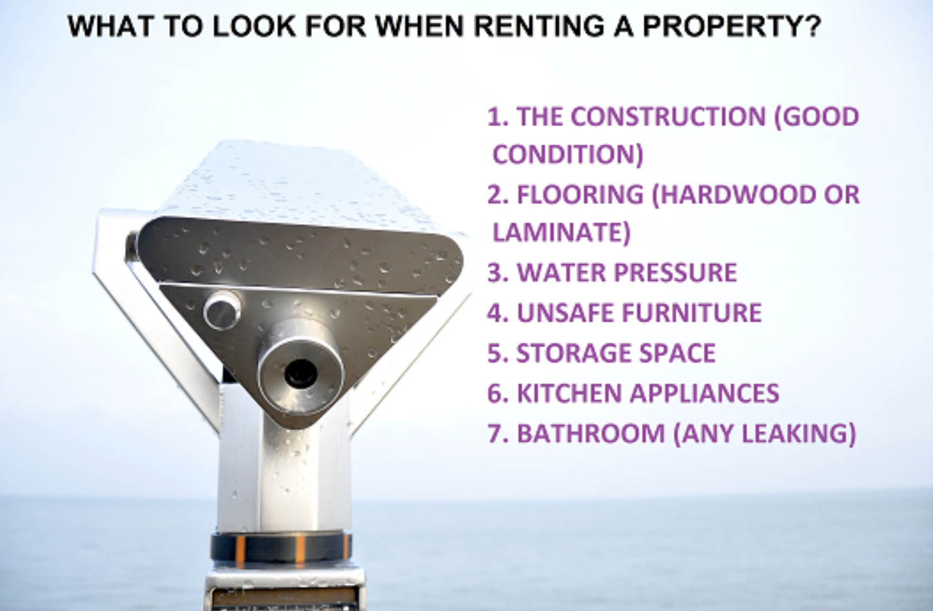 What to Look for when Renting a Property?